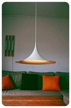 Danish design hanging lamp. Semi by Claus Bonderup and Torsten Thorup 1968 Vintage