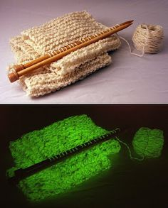 Cthulhu Crochet and Cousins: Glow in the Dark Yarn!