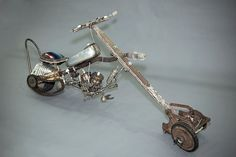 Chupacabra Chopper A sculpture of recycled by RemadeMermaid, $3500.00