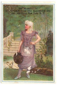 Victorian Trade Card: American Sewing Machine New York