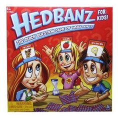 GREAT game for kids ages 6+, my kids LOVE Hedbanz!
