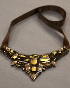 Sparkling Bib Necklace - Martha Stewart Home & Garden