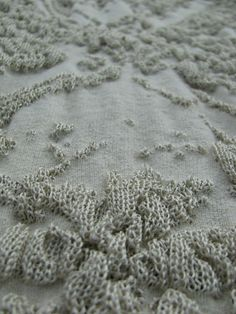 Knitted by industrial knitting machine. These pieces were inspired by old hand grounded crystal dishes.