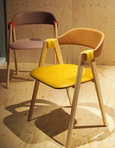 Mathilda chair with rush backrest by Patricia Urquiola for Moroso