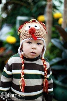 Turkey Hat by Just Be Happy Crochet on etsy. LOVE.#crochet #hats #turkey #thanksgiving