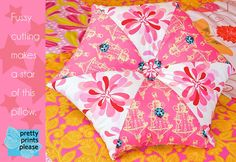Hexagon pillow http://sew4home.com/projects/pillows-cushions/458-pretty-prints-please-star-pillow