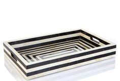 Striped Bone & Horn Tray