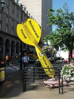 Yellow Pages #outdoor #advertising
