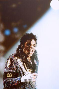 Michael Jackson during the Dangerous Tour