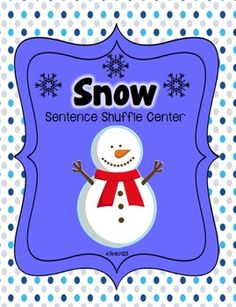 Christmas - Snow Fluency Center: Sentence Shuffle  $