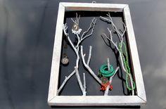 jewelri holder, airplan trip, craft, twig jewelri, display, garden trusper, diy, hold jewelri, jewelry holder