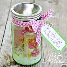 Jar Gift Idea and Free Printable | The 36th AVENUE