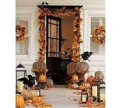 Fall decor halloween decorations, front door decor, ass bird, autumn halloween, halloween door, fall decorating, black bird, fall decorminus, autumn door