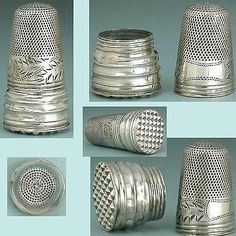 Antique English Sterling Silver Screw On Thimble Over Seal * Circa 1820