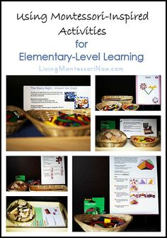 Ideas for creating Montessori-inspired activities for 6-12 year olds using open-ended toys. learn activ, montessori monday, montessori elementary, montessoriinspir activ, montessori homeschooling, learning activities, 612 year