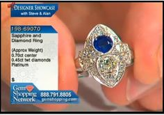 At Gem Shopping we sell a great deal of estate jewelry. Here is an estate diamond and sapphire ring set in platinum.
