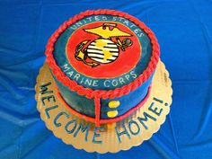 A Welcome Home Cake for a Marine