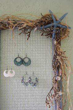 chicken wire for earrings.