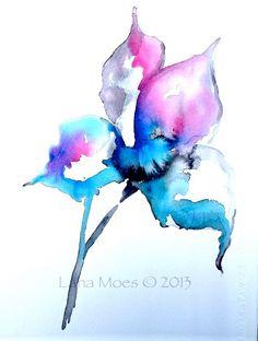 Botanical print, watercolor botanical, watercolor flowers