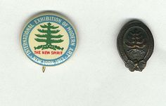 Armory show button and lapel pin, 1913, from the Walt Kuhn, Kuhn family papers, and Armory Show records, Archives of American Art, Smithsonian Institution.