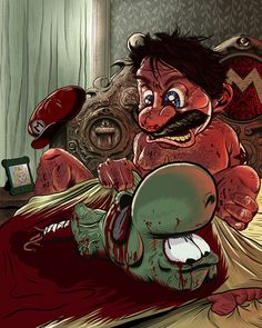 galleries, mario godfath, illustrations, the godfather, super mario brothers, art, video games, fathers, cross