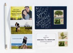 Megan + Mike's Seaside Photo Save the Dates   Design and Photo Credits: Coral Pheasant