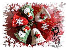 Crochet PATTERN 76  Christmas Bells by NellagoldsCrocheting, €3.15