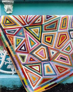 """African Collage"" quilt, in : 'Kaffe Fasset Quilts: Shots and Stripes' !  STC/Melanie Falick Books"