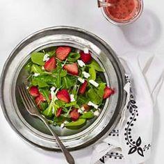 Arugula & Feta Salad with Strawberry Vinaigrette