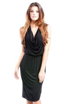 Black Grecian Dress
