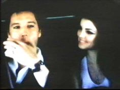 Elvis and Priscilla in the limo (on their way to Elvis' private jet - then to Palm Springs for the honeymoon)