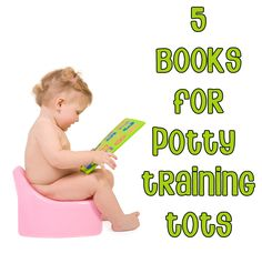 5 Books for potty training tots - read about using the potty with your toddler before you start potty training and it will help them understand more on what is going to happen