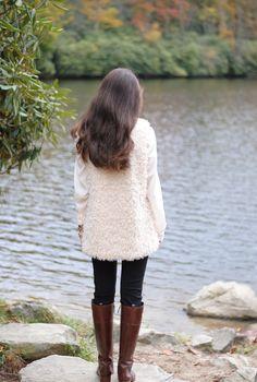 Fur vest + boots