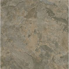 "Style Selections 12"" x 12"" Gray/Brown Slate Finish Vinyl Tile"