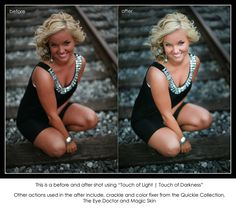 FREE PHOTOSHOP ACTION - Get it here! Touch of Light | Touch of Darkness