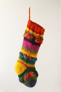 Anthropologie: Christmas Stocking, knitted