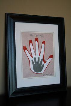 Family hand print art - great idea!