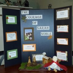The Courage of Sarah Noble reading fair project