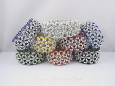 Stretchy Japanese Alll by Precious Quail, via Flickr #chainmaille