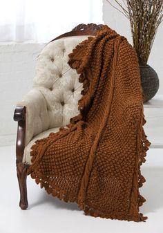 Cedar Falls Throw FREE knitting pattern designed by  Patricia Williams