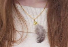 6 Fabulous Ideas to Make DYI Feather Jewelry
