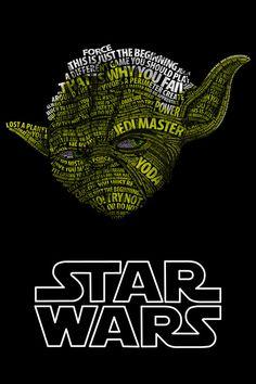 Yoda geek, darth vader, typography poster, stars, star wars, darth maul, quote art