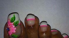 French+with+Neon+Pink+Toes+by+akimit1114+-+Nail+Art+Gallery+nailartgallery.nailsmag.com+by+Nails+Magazine+www.nailsmag.com+%23nailart