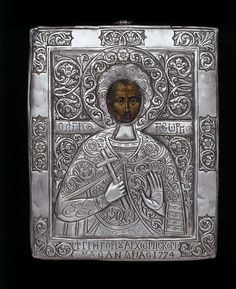 This icon, made in 1774, comes from the Greek Orthodox church, where the veneration of holy images has always been of great importance. It may show St George of Cappadocia, a legendary martyr saint said to have died in Palestine towards the end of the 3rd century. | VandA Collection