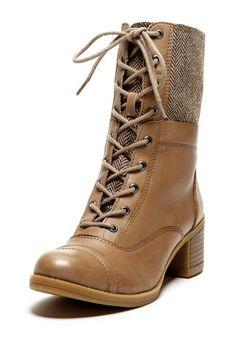 Herringbone Leather Boots / Kelsi Dagger