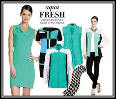 Spring Trend: AQUA fresh tropical colors | ETCETERA Spring 2014 Collection