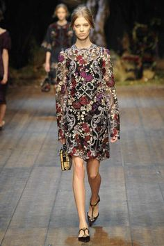 Dolce & Gabbana | Fall 2014 Ready-to-Wear Collection | Style.com fashion weeks, 2014 rtw, fall 2014, floral dresses