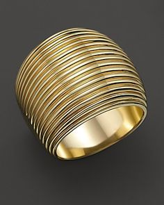 Roberto Coin yellow gold wide ring