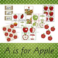 A is for Apple Preschool and Kindergarten Free Printable Pack!