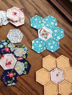 hexagon quilt, hexagon sew